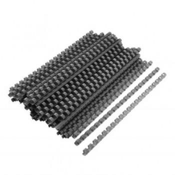 Spire de plastic Fellowes, 19 mm, negru, 100 bucati/set