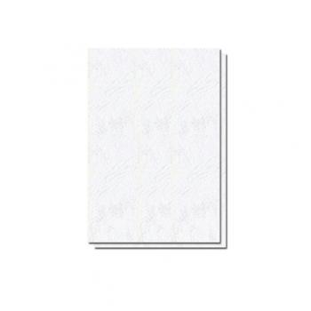 Coperti carton, A4, 210 gr, imitatie piele, alb, 100 bucati/top