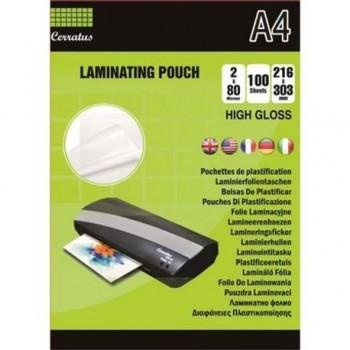Folie laminat Cerratus, A4, 80 microni, 100 bucati/top