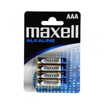 Baterii alcalina Maxell, 1.5V, LR3 AAA, 4 bucati/set