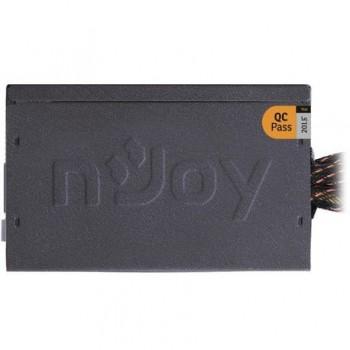 Sursa atx Njoy 450W, Ayrus 450, Eff 80%, 12V 2.3, ventilator 12mm, nivel zgomot 21dB, 1 x 4 + 4 pin ATX 12 V, 4 x sata, 2 x molex, 1 x 20 + 4 pin