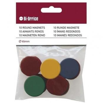 Magneti Bi-Silque, 10 bucati/set, diverse culori, 15 mm