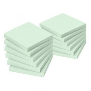 Notite adezive Info Notes, 50 x 40 mm, verde, 100 file