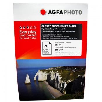 Hartie foto Agfa Glossy A4, 180 g/mp