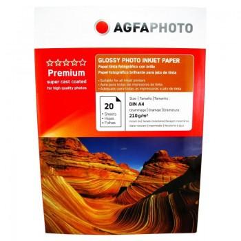 Hartie foto Agfa Glossy A4, 210 g/mp