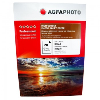 Hartie foto Agfa Ultra Glossy A4 RC, 260 g/mp