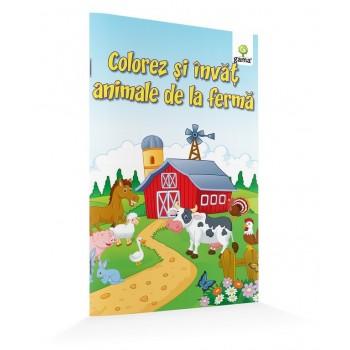 Colorez și învăț animale de la fermă