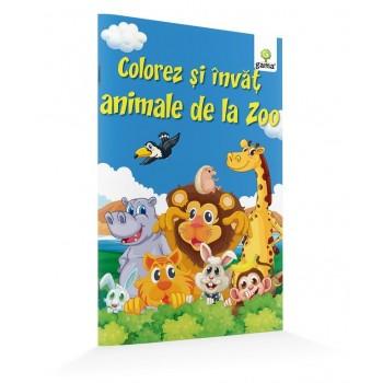 Colorez și învăț animale de la zoo