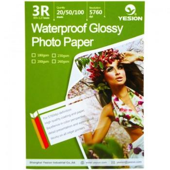 Hartie foto Yesion Waterproof Glossy 3R, 230 g/mp, 20 coli/pachet