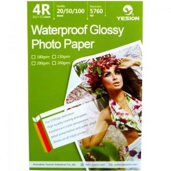 Hartie foto Yesion Waterproof Glossy 4R, 260 g/mp, 50 coli/pachet