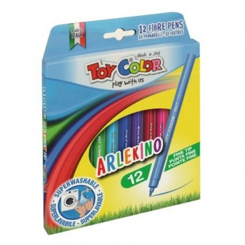 Carioci Toy Color Arlekino, 12 culori