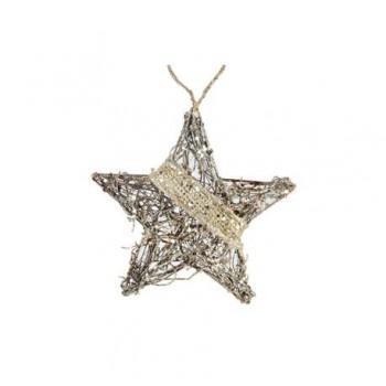 Ornament Edelman, stea mica, maro