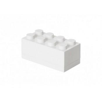 Mini cutie depozitare LEGO 2x4 alb