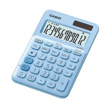 Calculator de birou Casio MS-20UC, 12 digits, bleu