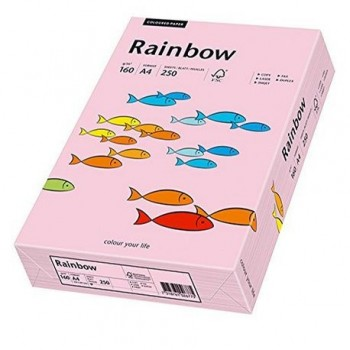 Carton A4 Rainbow, 160 g/mp,  250 coli/top, roz pastel