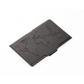 Portvizit metalic Troika Global Contacts, negru
