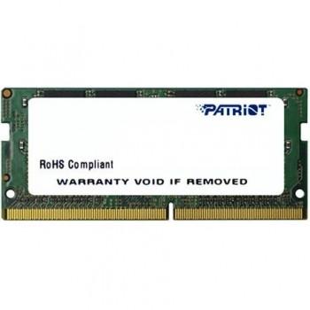 Memorie RAM notebook Patriot, SODIMM, DDR4, 4GB, 2400 Mhz, CL17, 1.5V