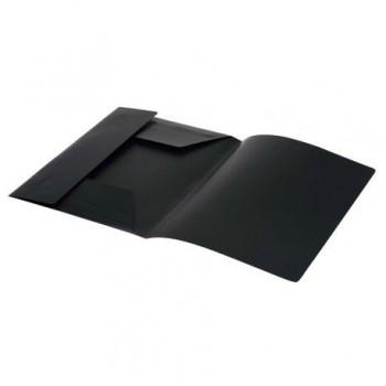 Mapa plastic, inchidere cu elastic, negru
