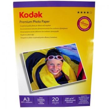 Hartie foto Kodak Premium Glossy A3, 230 g/mp