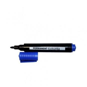 Marker permanent, varf rotund, 1.5 - 3 mm, albastru