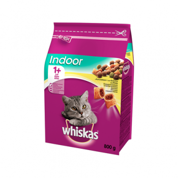 Hrana uscata pisici adult indoor pui 800gr Whiskas