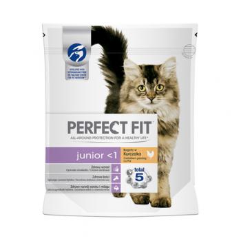 Hrana uscata pisici junior pui 750gr perfect fit