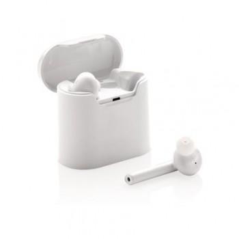 Casti wireless cu Bluetooth si microfon + cutie pentru reincarcare