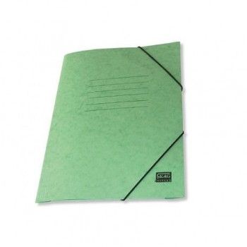 Mapa carton cretat Skag, A4, inchidere cu elastic, verde