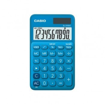 Calculator portabil Casio SL-310UC, 10 digits, albastru