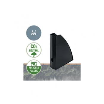 Suport vertical Leitz Recycle, pentru documente, PS reciclat, A4, negru