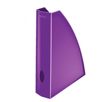 Suport vertical documente Leitz WOW, mov metalizat