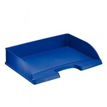 Tavita documente Leitz Plus, deschidere laterala, albastru