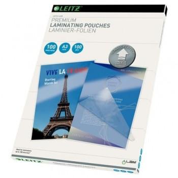 Folie pentru laminare la cald Leitz UDT, A3, 100 microni, 100 bucati/top