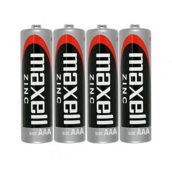Baterii AAA R3 Maxell, 1.5V zinc, 4 bucati/set