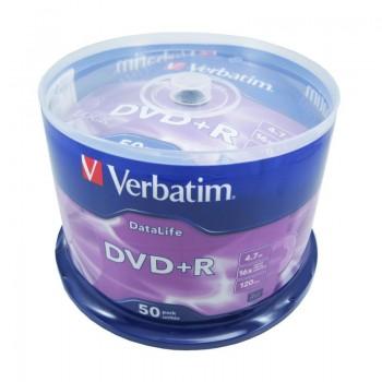 DVD+R Verbatim, 4.7GB, 16x, 50 buc