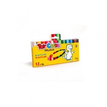 Plastilina culori asortate Toy Color 12 buc/16 g