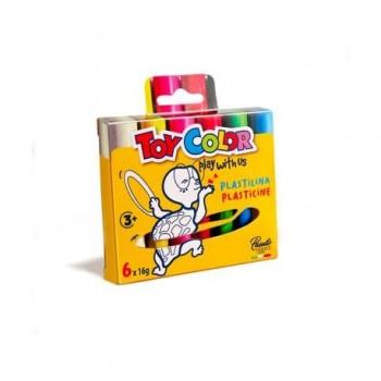 Plastilina culori asortate Toy Color 6 buc x 16g