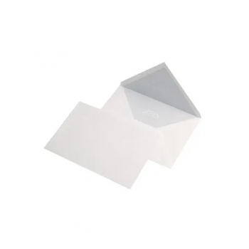 Plic LC/5, 162 x 229 mm, alb, traditional, cu clapa in V, 25 bucati