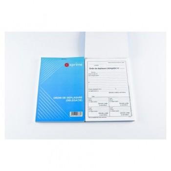 Ordin de deplasare, A5, hartie offset ,100 file/carnet, coperta carton 300g/mp