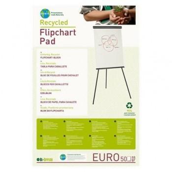 Hartie flipchart alba, reciclabila, 70 gr/mp, 50 coli/top, 5 buc/bax