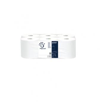 Rola prosop cu derulare centrala, alb, 2 straturi, 105.75m, 6 role/bax