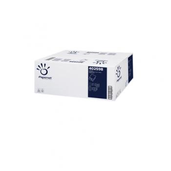 Hartie igienica pliata, alba, 2 straturi, 224 portii/pachet, 40 pachete/bax