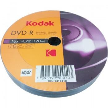 DVD-R Kodak, 4.7GB, 16x, 10 buc