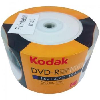 DVD-R Kodak full printabil Mat, 4.7GB, 16x, 50 buc