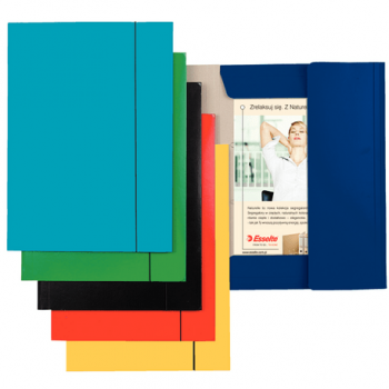 Mapa carton Esselte Economy, A4, inchidere cu elastic, albastru deschis