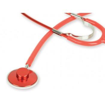 Stetoscop cu capsula simpla GIMA - Latex Free - rosu (51001)