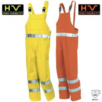 Pantaloni de lucru cu pieptar Hi-Viz 8435
