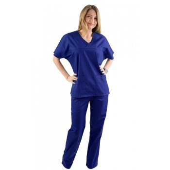 Costum medical albastru royal - unisex