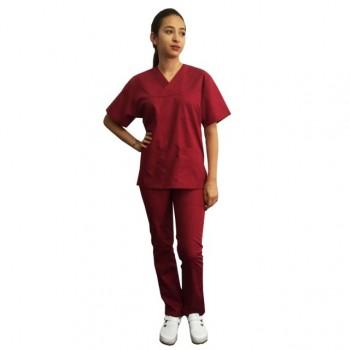 Costum medical bordo - unisex