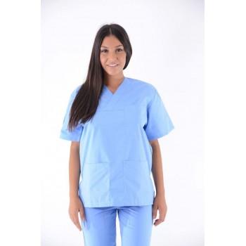 Costum medical albastru deschis - unisex